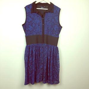 ASOS curve lace button down mini dress